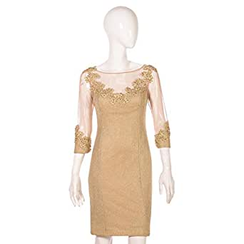 Dekelte Gold Mixed Special Occasion Dress For Women