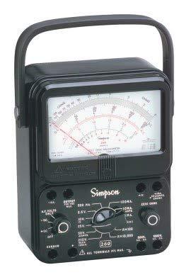 Simpson 260-8 12388 Black Analog Multimeter