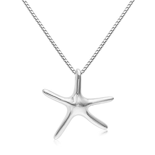 d 3-D Medium Size Starfish Charm And Necklace. (20