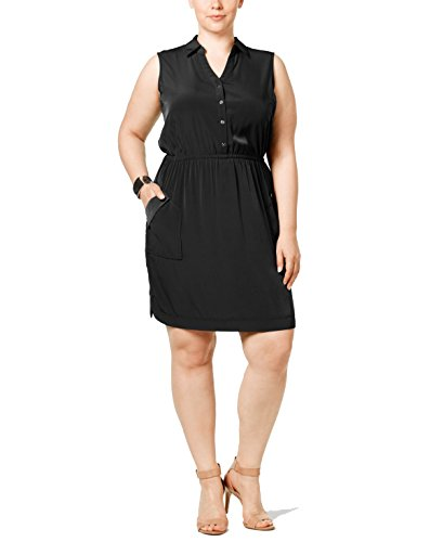Alfani Plus Gathered-Waist Shirtdress