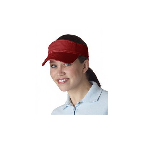 Ultraclub 8103 UC Solid Visor - Red - One ()