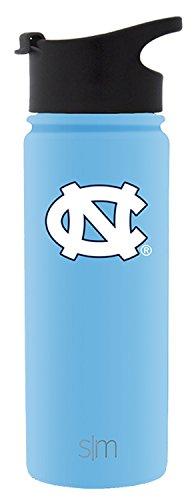 Simple Modern 18oz Summit Water Bottle - North Carolina Tar Heels Vacuum Insulated 18/8 Stainless Steel Travel Mug - North Carolina