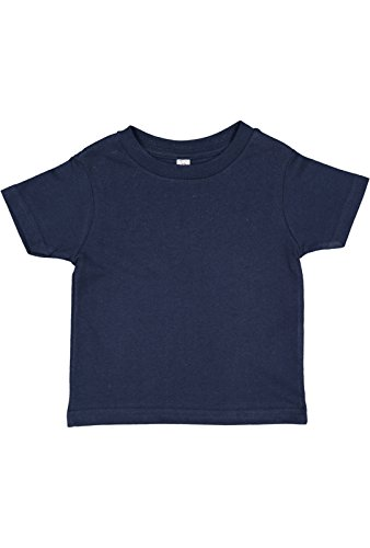 Rabbit Skins Infant 100% Cotton Jersey Short Sleeve Tee (Navy, 12 Months)