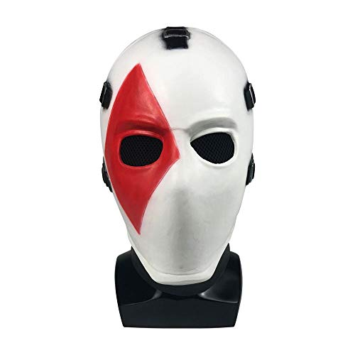 Vercico Square Poker Face Mask Carnival Christmas Halloween New Year Easter Theme Party Head Mask (Square)