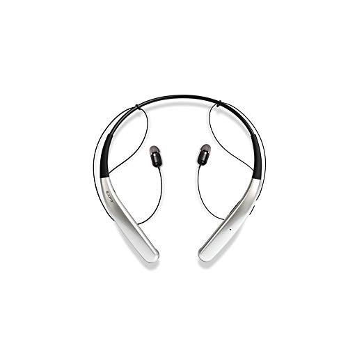 BCS-100 | Wireless Bluetooth Headphones, Durable Neckband Type, Ultra Lightweight,14H Playtime, Sweat & Splash Resistant for Home Office, Conference Call (Bright Silver)