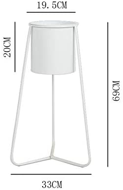 メタルフラワースタンド、ホーム鉄プラント鉢植え屋内屋外のバルコニーオフィスの装飾のためのトライアングルサポートデザインとラック,白,69cm