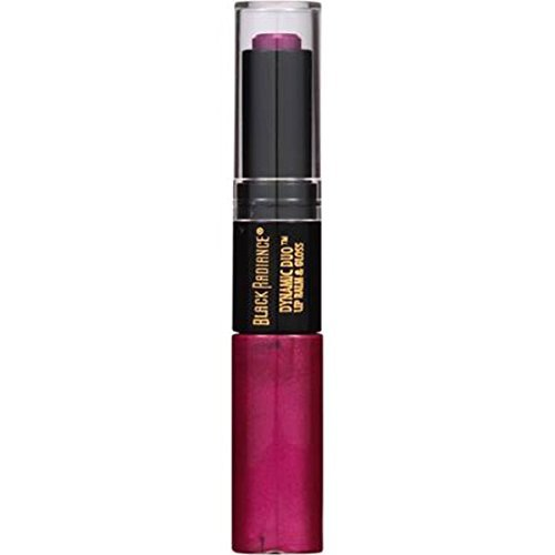 (Black Radiance Dynamic Duo Lip Balm & Gloss, Plum by Black Radiance)