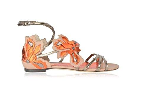 Orange Con Sandali Piatti Stile In 39 Moda Alla Donna Da Romano Sandali BwqTSaT