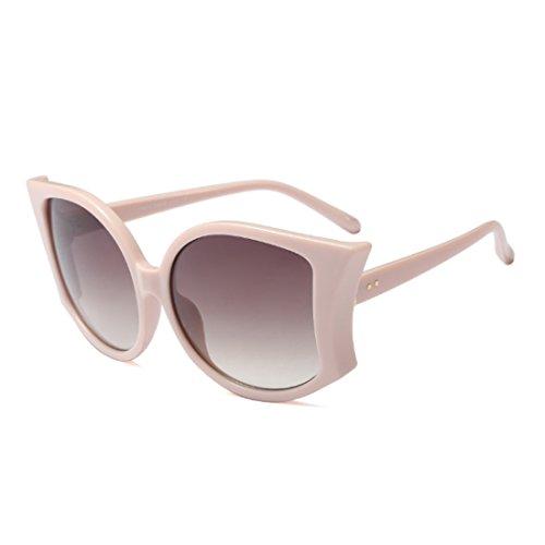 de de de las de la Caqui las Gafas UV400 grandes manera de mujeres las sol de sol Huicai verano gafas de mujeres qX7vw5f