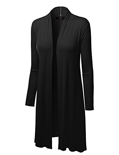 Long Black Cardigan Sweater - 8