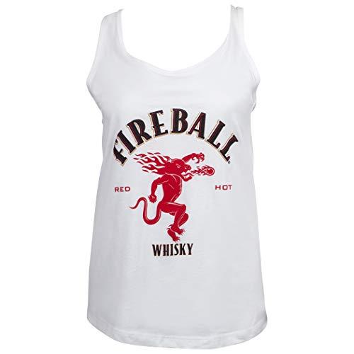 - Fireball Dragon Logo Women's Racerback Tank Top Small White