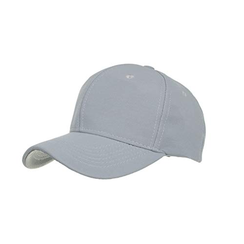 Lloopyting Men's and Women's Solid Color Fashion Caps Casual Sunscreen Breathable Hat Sports Sweat-Absorbent Baseball Cap -