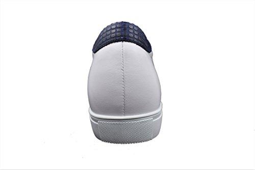 Pelle in di Tan Scarpe Alta di Zerimar Realizzata Taglia con Bianco elevatori 6 Sportive Qualità cm Interni per Uomo Aumento 44 Colore g8wOq87W
