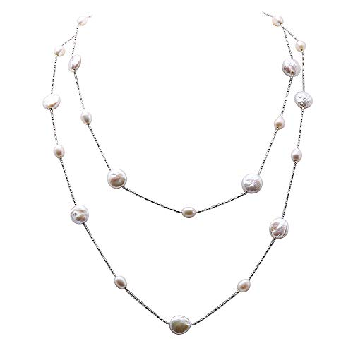 JYX Pearl Station Necklace...
