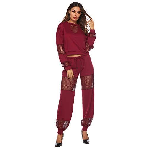 Willow S Women Fashion Sport Comfy Casual Patchwork Tracksuit Long Pants Lounge Wear Suit Sets Blouse - Knit Slinky Pant Set