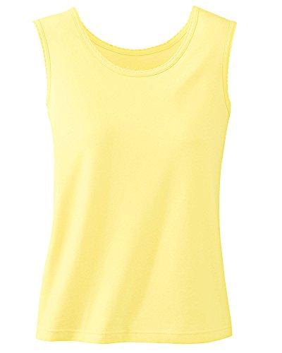 UltraSofts Knit Tank, Butter, (Yellow Knit Top)