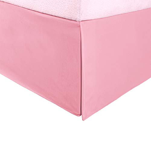 Superior 100% Brushed Microfiber Pleated Bed Skirt, Queen, Pink