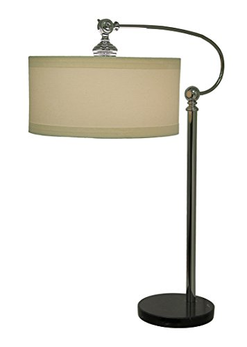 Kichler  70874 Gatwick 1-Light Table Lamp with White Fabric Shade, Chrome Finish