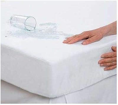 Protector Impermeable Pirulos S/ábana Bajera Protectora Impermeable para Cuna de Beb/é de 60x120 cm//S/ábana Bajera Ajustable Color Blanco