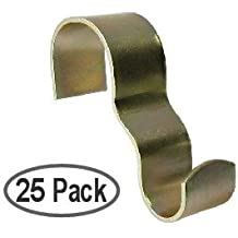 Molding Hooks - Picture Rail Hooks Wide - Brass Plated Steel - 25 Pack