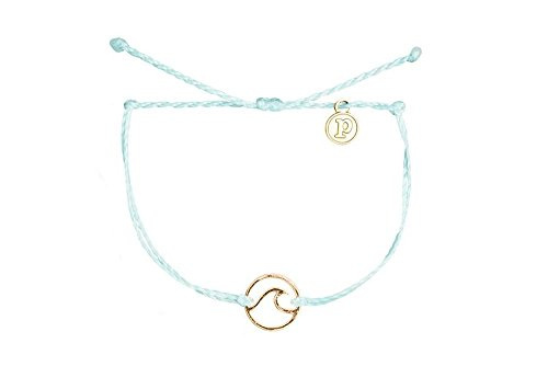 Pura Vida Gold Wave Seafoam Bracelet - Handcrafted with Gold-Plated Charm - Water Resistant from Pura Vida