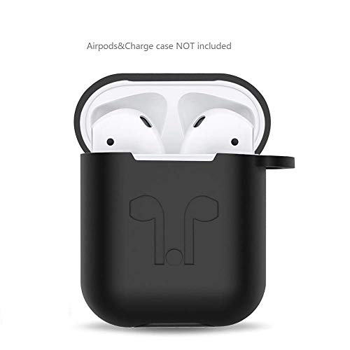 Amasing AirPods Case Airpods Accessories Protective Silicone Cover Skin Compatible for Airpod Charging Case Only (Black)