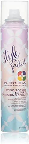 Pureology Style + Protect Wind-Tossed Texture Finishing Spray , For Color-Treated Hair , Vegan , 5 oz.