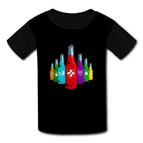 (Apocaly-pse Call of Du-ty T Shirt Short Sleeve Crewneck Sports Tee Top for Boys and Girls XS Black)