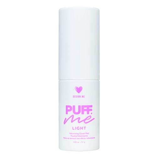 Design.ME Puff.ME LIGHT Volumizing Mist Powder with Hair Root Volume Powder | Cruelty-Free Volume Hair Powder for Gorgeous Volume | Easy Application | Texturizing Volumizing Powder in a Pump | 0.32oz ()