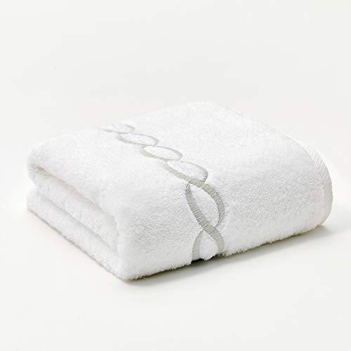 Calla Angel Superior 1000 Gram Egyptian Cotton Oversize 63 x 31 Bath Towel,1 Piece, Silver Chain (Turkish Cotten Bath Towels)