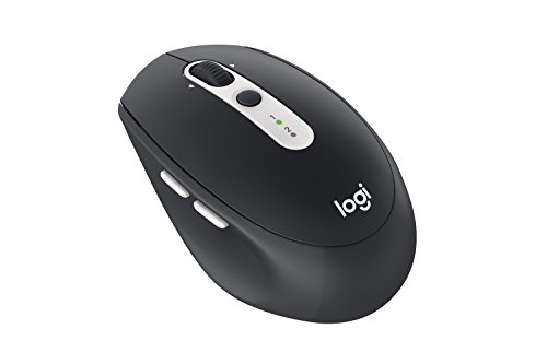 Logitech Wireless Mouse M585 Multi-Device with Flow Cross-Computer Control and File Sharing for PC and Mac, Graphite by Logitech