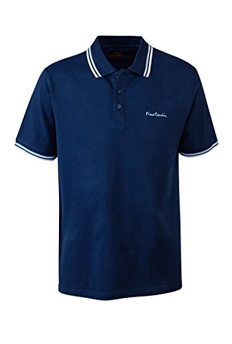 Pierre+Cardin+Mens+New+Season+Classic+Fit+Tipped+Polo+%28XL%2C+Navy%29