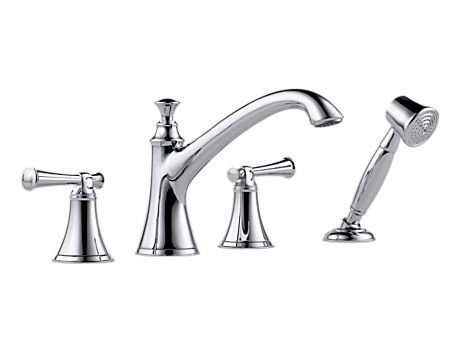 Baliza Shower - Brizo T67405-PCLHP Baliza Roman Tub With Hand Shower, Less Handles, Chrome by Brizo