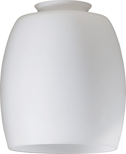 Quorum 2943H, Satin Opal Barrel Glass