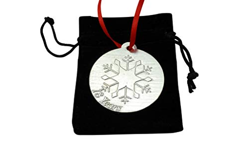 18th Wedding Anniversary Metal Keepsake Chrstimas Tree Ornament Bauble Decoration Ornament