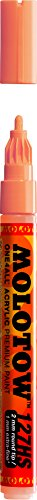 Molotow ONE4ALL Acrylic Paint Marker, 2mm, Peach Pastel, 1 Each (127.214)