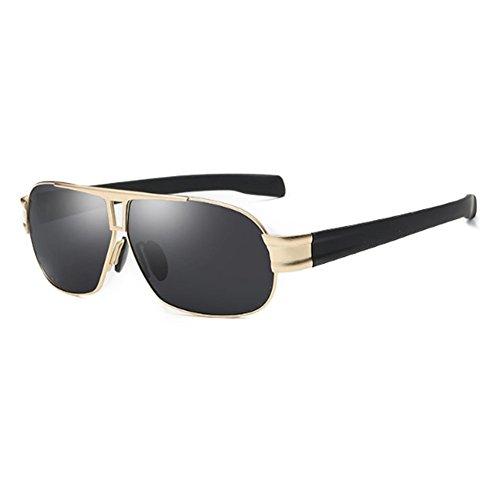 400 Marco y de dorado UV para Moda Pilot Protección Metal ZDQ para Dorado con Mujer Playa polarizadas Viajes Gafas Sol Conducción de Hombre qZEwzp