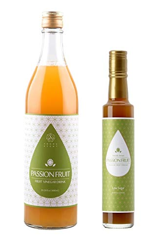Young Scent Fruit Vinegar Drink 600ml & Low Sugar Premium Fruit Vinegar 250ml (Passion Fruit, Bundle Pack) For Sale
