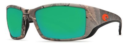 Costa Del Mar Blackfin Sunglasses, Realtree Xtra Camo, Green Mirror 580 Plastic - Costa Mar Del Camo
