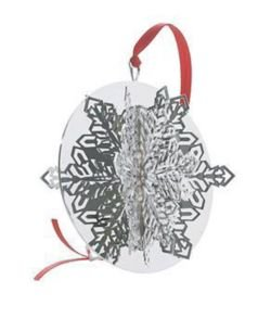 Vera Wang 2005 Silver Plated Snowflake Ornament