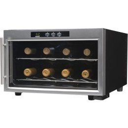 Emerson FR24SL 8 Bottles Wine Cooler with Thermal Glass Door, (Glass Door Wine Cooler)
