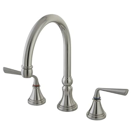 Kingston Brass Ks2798zlls Silver Sage Widespread Ada Kitchen Faucet