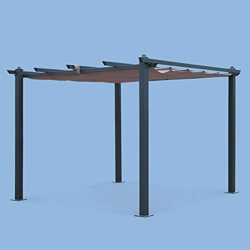 Alices Garden - Pergola, Aluminio, Marron, 3x3 m: Amazon.es: Jardín