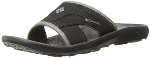 Image of Columbia Men's TECHSUN Slide Sport Sandal, Black, Titanium MHW, 9 Regular US
