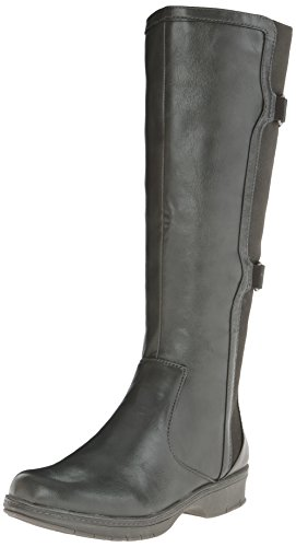 LifeStride Women's Venture Engineer Boot, Dark Grey, 5.5 M US