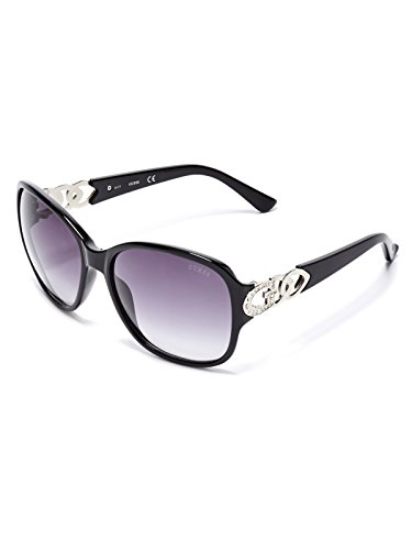 GUESS Factory Women's Oversized Chain-Trim - Face Triangle Sunglasses