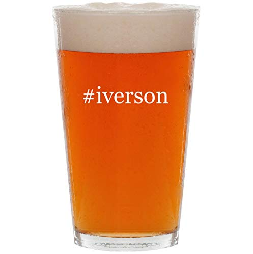 #iverson - 16oz Hashtag Pint Beer Glass
