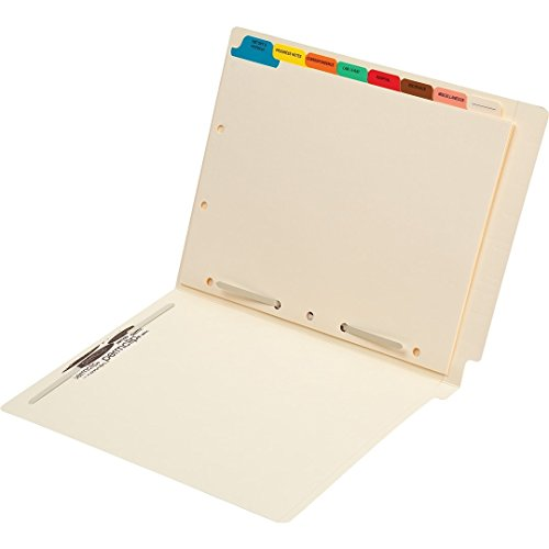 Medical Arts Press Match End Tab File Folders with 8 Tab Medical Chart Divider Set (25/Box)