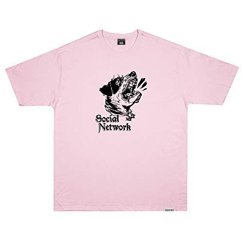 Camiseta Wanted - Social Network Rosa Cor:Rosa;Tamanho:XG