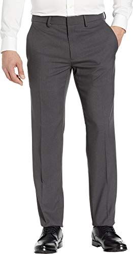 (Kenneth Cole REACTION Men's Performance Tech Slim Fit Dress Pants Charcoal 40 32)